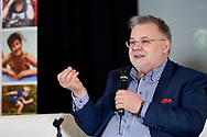 Warsaw, Poland - 2017 April 07: Zbigniew Izdebski - Department of Biomedical Development and Sexology of Warsaw University speaks while The Day of Health - science conference in the National Library on April 07, 2017 in Warsaw, Poland.<br /> <br /> Mandatory credit:<br /> Photo by © © Adam Nurkiewicz / Mediasport / Mediasport<br /> <br /> Picture also available in RAW (NEF) or TIFF format on special request.<br /> <br /> Any editorial, commercial or promotional use requires written permission from the author of image.<br /> <br /> Adam Nurkiewicz declares that he has no rights to the image of people at the photographs of his authorship.