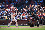 San Francisco Giants third baseman Conor Gillaspie (21) at bat against the Arizona Diamondbacks at AT&T Park in San Francisco, Calif., on August 31, 2016. (Stan Olszewski/Special to S.F. Examiner)