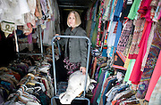 Deb Bell, UNC-G's theater department Design Coordinator in the extensive costume storage room.