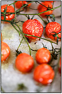 Copyright JIm Rice ©2013.Oven roasted tomatoes.<br /> Styled and photographed by Jim Rice