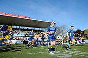 Slade McDowall runs onto the field during the Ranfurly Shield match between Otago and North Otago, held at Whitestone Contracting Stadium, Oamaru, New Zealand, 26 July 2019. Credit: Joe Allison / www.Photosport.nz