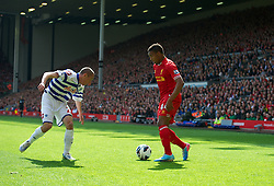 LIVERPOOL, ENGLAND - Sunday, May 19, 2013: Liverpool's Jordon Ibe, making his debut for the Reds, during the final Premiership match of the 2012/13 season against Queens Park Rangers at Anfield. (Pic by David Rawcliffe/Propaganda)
