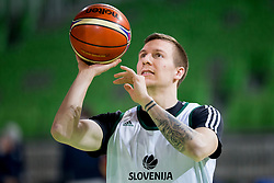 Gregor Hrovat during practice session of Slovenian National Basketball team before qualification matches for FIBA Basketball World Cup 2019, on February 20, 2017 in Arena Stozice, Ljubljana, Slovenia. Photo by Urban Urbanc / Sportida