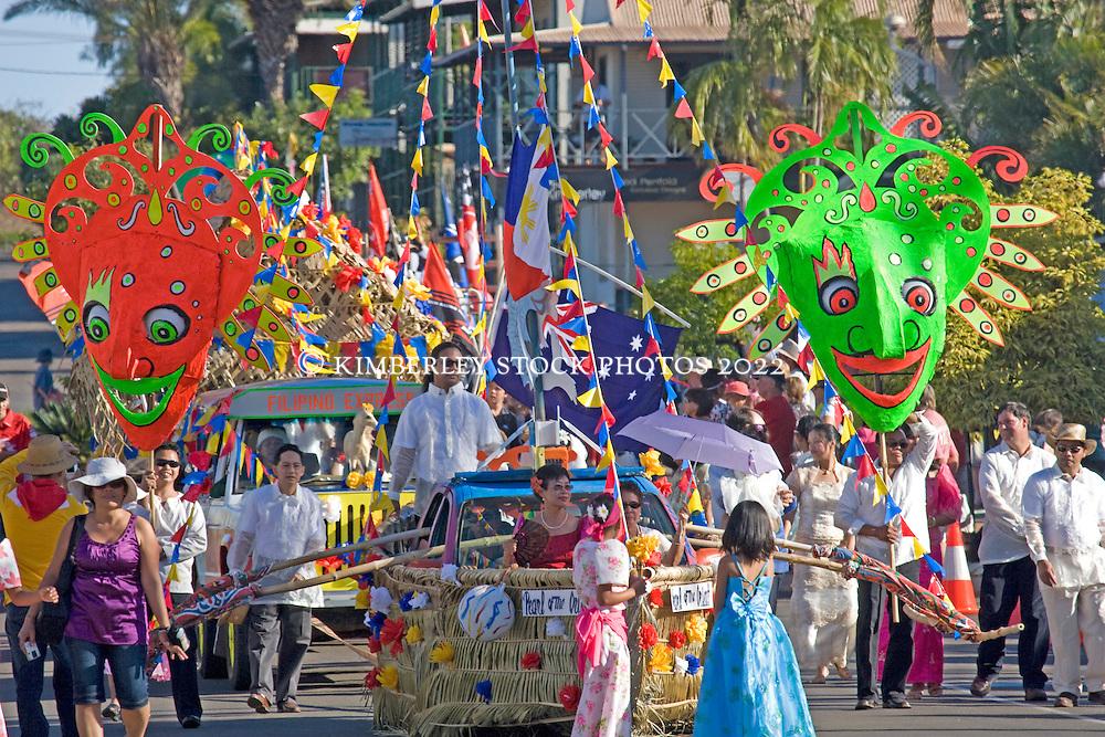 The Shinju Filippino float parade - Broome 2008