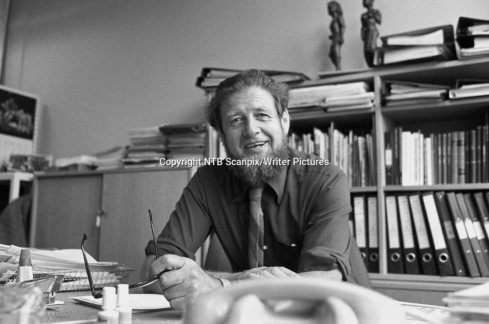 OSLO 19800528. Daglig leder av Amnestys norske avdeling, Leif Vetlesen.<br /> Foto: Henrik Laurvik / NTB / Scanpix<br /> <br /> NTB Scanpix/Writer Pictures<br /> <br /> WORLD RIGHTS, DIRECT SALES ONLY, NO AGENCY