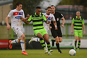 Forest Green Rovers midfielder Keanu Marsh-Brown (7) on the attack during the Vanarama National League match between Forest Green Rovers and Dagenham and Redbridge at the New Lawn, Forest Green, United Kingdom on 29 October 2016. Photo by Alan Franklin.