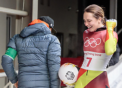 17.02.2018, Olympic Sliding Centre, Pyeongchang, KOR, PyeongChang 2018, Skeleton, Damen, 4. Lauf, im Bild Jacqueline Loelling (GER, 2. PLATZ) // Jacqueline Loelling of Germany reacts after the ladie's Skeleton heat 4 competition of the Pyeongchang 2018 Winter Olympic Games at the Olympic Sliding Centre in Pyeongchang, South Korea on 2018/02/17. EXPA Pictures © 2018, PhotoCredit: EXPA/ Johann Groder