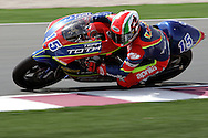 Italian Roberto Locatelli, Team Toth, finishes in third, 250cc, MOTO GP, Commercial Bank Grad Prix, Losail International Circuit, 8 Apr 06