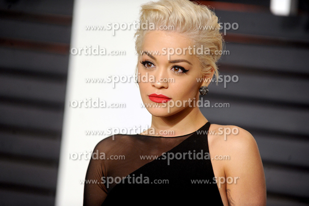 Rita Ora in attendance for 2015 Vanity Fair Oscar Party Hosted By Graydon Carter at Wallis Annenberg Center for the Performing Arts on February 22, 2015 in Beverly Hills, California. EXPA Pictures &copy; 2015, PhotoCredit: EXPA/ Photoshot/ Dennis Van Tine<br /> <br /> *****ATTENTION - for AUT, SLO, CRO, SRB, BIH, MAZ only*****