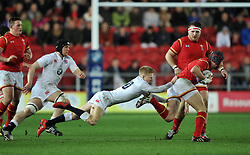 Mathew Protheroe fly half for England (Gloucester Rugby) tackles Rhun Williams fullback for Wales (RGC) - Mandatory by-line: Paul Knight/JMP - Mobile: 07966 386802 - 11/03/2016 -  RUGBY - Ashton Gate Stadium - Bristol, England -  England U20 v Wales U20 - Six Nations U20