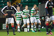 Celtic's Leigh Griffiths is congratulated after scoring - Celtic v Dundee in the Ladbrokes Scottish Premiership at Celtic Park, Glasgow. Photo: David Young<br /> <br />  - © David Young - www.davidyoungphoto.co.uk - email: davidyoungphoto@gmail.com