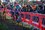 Clara HOSINGER (USA) and Katie CLOUSE (USA) at the 2019 UCI Cyclo-Cross World Championships in Bogense, Denmark