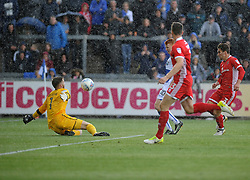 Rory Gaffney of Bristol Rovers gets the first goal - Mandatory by-line: Neil Brookman/JMP - 09/09/2017 - FOOTBALL - Memorial Stadium - Bristol, England - Bristol Rovers v Walsall - Sky Bet League One