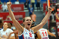 Victoire Serbie - Nevena Jovanovic - 28.06.2015 - France / Serbie - Finale Championnat d'Europe feminin de Basket ball -Budapest<br /> Photo : Attila Volgyi / Icon Sport