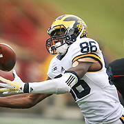 October 3, 2015: Michigan wide receiver Jehu Chesson #88 attempts to haul in a pass during the second half of the NCAA Football game between the Maryland Terrapins and the Michigan Wolverines at Byrd Stadium in College Park MD. Kenya Allen/CSM