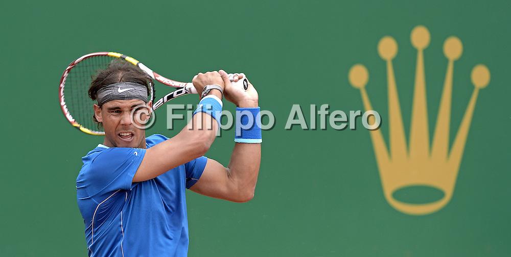 &copy; Filippo Alfero<br /> Monte-Carlo Tennis Masters 2014<br /> Monaco, 16/04/2014<br /> sport tennis<br /> Nella foto: Rafael Nadal