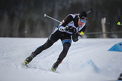 February 8, 2019 - Calgary, Alberta, Canada - Ermits Kalev (EST) is competing during Men's Relay of 7 BMW IBU World Cup Biathlon 2018-2019. Canmore, Canada, 08.02.2019 (Credit Image: © Russian Look via ZUMA Wire)