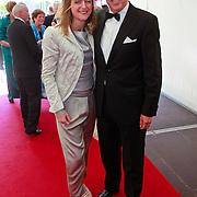 NLD/Amsterdam/20110618 - Amsterdamdiner 2011, Ed Nijpels en partner Elsbeth Janmaat