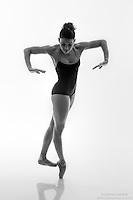 Black and white dance photography-Perpendicular Pointe -featuring ballerina Zui Gomez