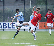 Dundee's Jesse Curran and Tayport's Cammy Black - Tayport v Dundee XI - pre-season friendly at the GA Arena <br /> <br />  - &copy; David Young - www.davidyoungphoto.co.uk - email: davidyoungphoto@gmail.com