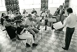 School orchestra, Nottingham, UK 1991