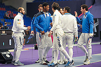 Equipe France / Equipe Italie - 03.05.2015 - Challenge SNCF Reseau - Coupe du Monde Epee messieurs<br />