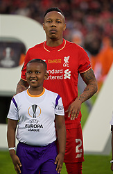 BASEL, SWITZERLAND - Wednesday, May 18, 2016: Liverpool's Nathaniel Clyne lines-up before the UEFA Europa League Final against Sevilla at St. Jakob-Park. (Pic by David Rawcliffe/Propaganda)
