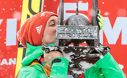 31.01.2016, Casino Arena, Seefeld, AUT, FIS Weltcup Nordische Kombination, Seefeld Triple, Gesamt Siegerehrung, im Bild Sieger Eric Frenzel (GER) // Winner Eric Frenzel (GER) celebrate on the Overall Podium of the FIS Nordic Combined World Cup Seefeld Triple at the Casino Arena in Seefeld, Austria on 2016/01/31. EXPA Pictures © 2016, PhotoCredit: EXPA/ JFK