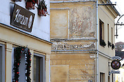 Nova Role (Neurohlau)/Tschechische Republik, CZE, 14.12.06: Schriftliche Spuren einer Sudetendeutschen Vergangenheit in der Stadt Nova Role (Neurohlau) in der N&auml;he von Karlovy Vary (Karlsbad).<br /> <br /> Nova Role (Neurohlau)/Czech Republic, CZE, 14.12.06: Traces of a Sudeten German history at a wall in the city Nova Role close to Karlovy Vary (Karlsbad).