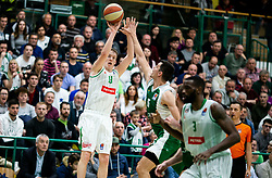 Miha Lapornik of Petrol Olimpija during basketball match between KK Krka and KK Petrol Olimpija in 22nd Round of ABA League 2018/19, on March 17, 2019, in Arena Leon Stukelj, Novo mesto, Slovenia. Photo by Vid Ponikvar / Sportida