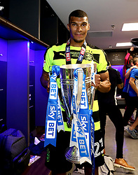 Free to use courtesy of Sky Bet - Collin Quaner of Huddersfield Town celebrates winning the Sky Bet Championship Playoff Final and promotion to the Premier League - Mandatory by-line: Robbie Stephenson/JMP - 29/05/2017 - FOOTBALL - Wembley Stadium - London, England - Huddersfield Town v Reading - Sky Bet Championship Play-off Final