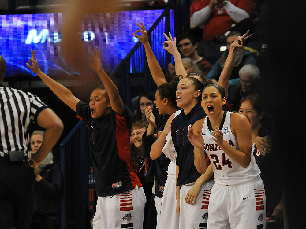 Gonzaga Women's Basketball vs. BYU. Photo by Rajah Bose