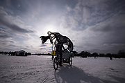 Bike rides in giant animals over frozen water is just part of the magic offered at the Art Shanty Projects on White Bear Lake. The event provides a unique opportunity for artist-audience engagement in a non-gallery setting.