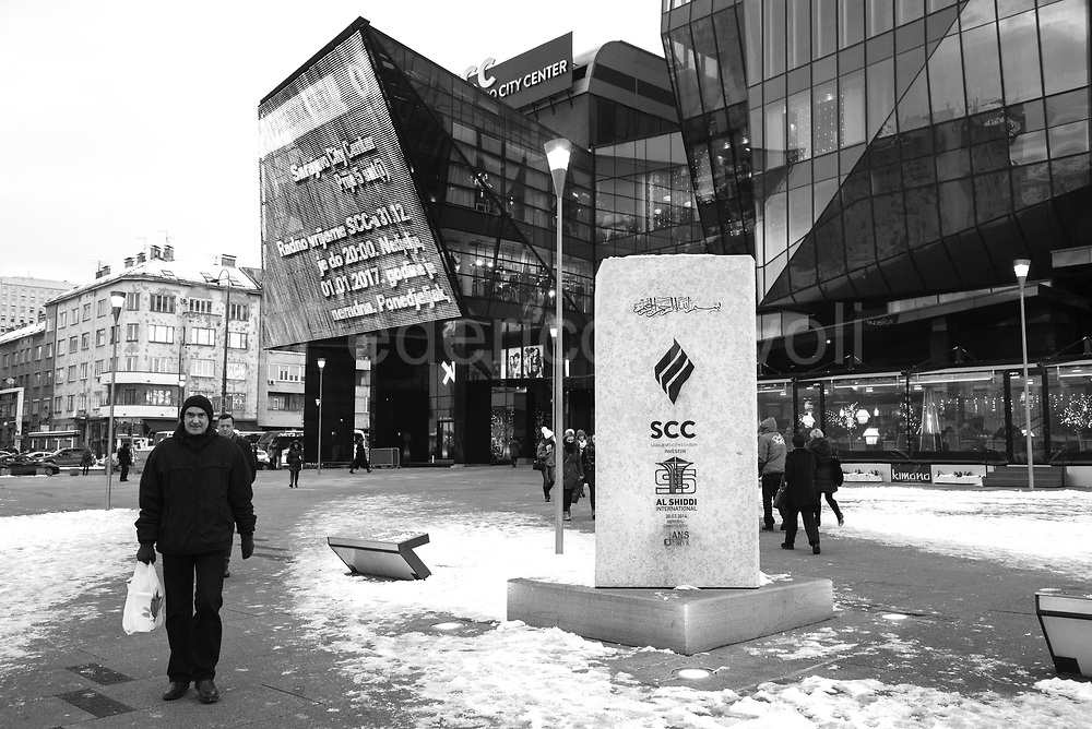 The  very new Mall, called Sarajevo City Center, arose in front of Parliament and in view of those hotels Mercure and Holiday famous during the siege, as an investment of Al SHIDDI International business group of Saudi origin