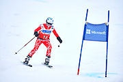 Schladming, Austria - 2017 March 19: Isabella  Andrae from Austria (18) competes in Alpine Skiing Competition while Special Olympics World Winter Games Austria 2017 on the &quot;Sepp-Walcher-Downhill&quot;<br /> (Slope 32) near the &quot;Tauernalm&quot; in Rohrmoos on March 19, 2017 in Schladming, Austria.<br /> <br /> Mandatory credit:<br /> Photo by &copy; Adam Nurkiewicz / Mediasport<br /> <br /> Adam Nurkiewicz declares that he has no rights to the image of people at the photographs of his authorship.<br /> <br /> Picture also available in RAW (NEF) or TIFF format on special request.<br /> <br /> Any editorial, commercial or promotional use requires written permission from the author of image.<br /> <br /> Image can be used in the press when the method of use and the signature does not hurt people on the picture.