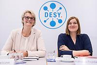 31 MAY 2018, HAMBURG/GERMANY:<br /> Anja Karliczek (L), CDU, Bundesministerin fuer Bildung und Forschung, und Katharina Fegebank (R), B90/Gruene, 2. Buergermeisterin Hamburg und Bildungssenatorin, Besuch des Deutschen Elektronen-Synchrotons, DESY<br /> IMAGE: 20180531-01-023<br /> KEYWORDS: Forschung
