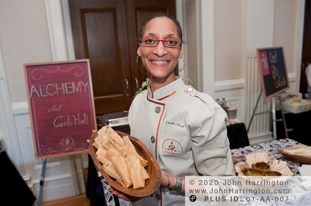 Chef Carla Hall of Alchemy in Silver Spring, MD and Bravo's Top Chef All Stars, at the Common Threads World Festival at the Carnegie Institution in Washington, DC on April 6th, 2011, brought together influential area chefs, politicians, and food enthusiasts for a fundraiser for after-school programs in Washington.