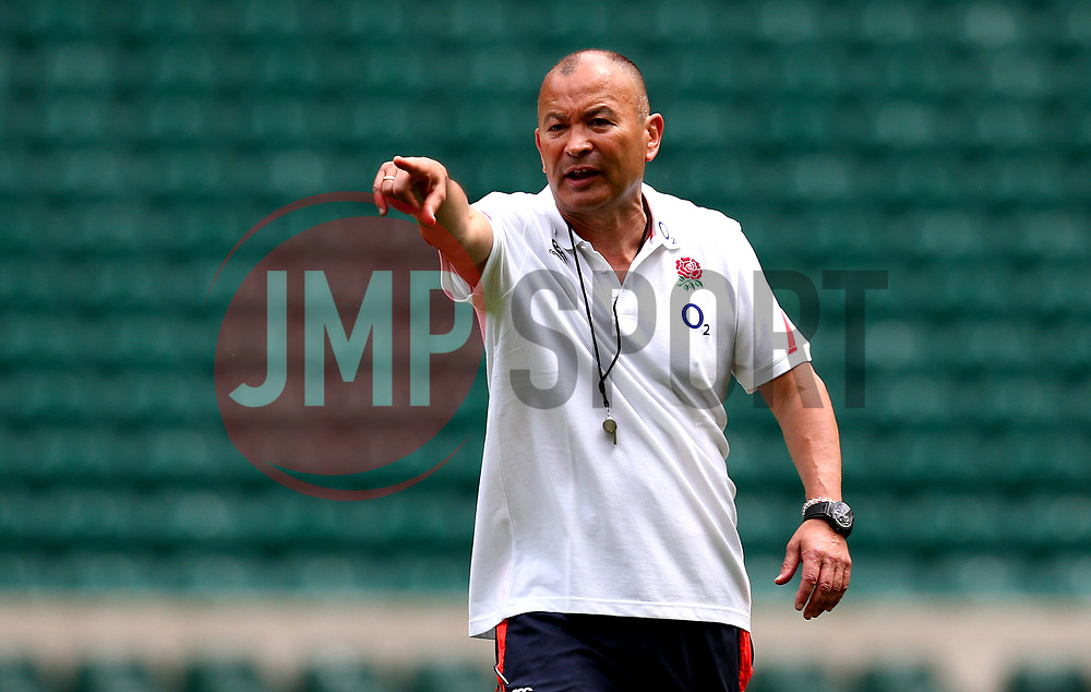 England head coach Eddie Jones points as he leads a training session at Twickenham ahead of the upcoming tour of Argentina - Mandatory by-line: Robbie Stephenson/JMP - 02/06/2017 - RUGBY - Twickenham - London, England - England Rugby Training