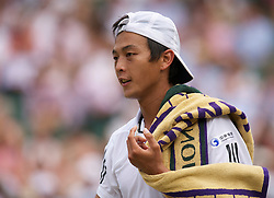 LONDON, ENGLAND - Wednesday, June 30, 2010: Yen-Hsun Lu (TPE) during the Gentlemen's Singles Quarter-Final on day nine of the Wimbledon Lawn Tennis Championships at the All England Lawn Tennis and Croquet Club. (Pic by David Rawcliffe/Propaganda)