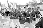 Children in full uniform in Sports Day parade