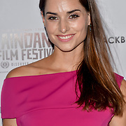 Simone Labarga is an actress attend Blackbird - World Premiere with Michael Flatley at May Fair Hotel, London, UK. 28th September 2018.