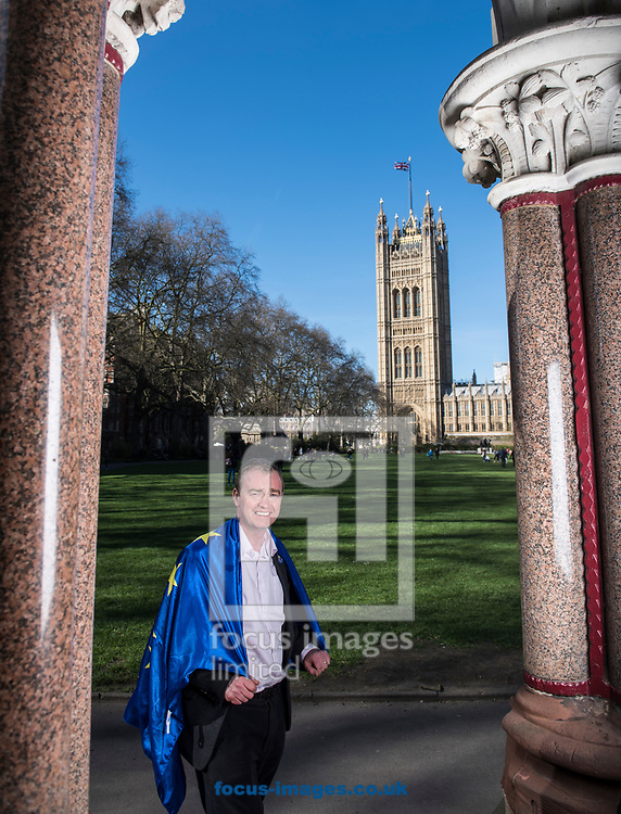 Tim Farron, leader  of the Liberal Democrats, has announced he is standing down in the wake of the General Election.  Westminster, London<br /> Picture by Daniel Hambury/Stella Pictures Ltd 07813022858<br /> 14/06/2017<br /> <br /> SPL TIM FARRON MP 04.jpg<br /> <br /> Original Caption:<br /> Tim Farron MP pictured at the Houses of Parliament, Westminster. <br /> Earlier in the day Farron had attended, and spoken at, Unite for Europe march, starting in Park Lane and ending in a rally in Parliament Square.<br /> Picture by Daniel Hambury/Stella Pictures Ltd 07813022858<br /> 25/03/2017