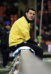 07.03.2010, Stadio Giuseppe Meazza, Mailand, ITA, Serie A, Inter Mailand vs FC Genua, im Bild Julio Cesar, Inter, ist enttäuscht / for Slovenia SPORTIDA PHOTO AGENCY.