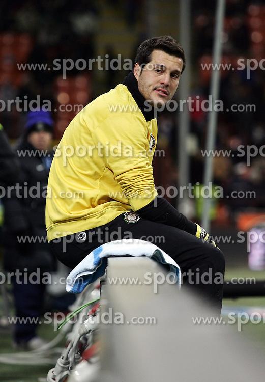 07.03.2010, Stadio Giuseppe Meazza, Mailand, ITA, Serie A, Inter Mailand vs FC Genua, im Bild Julio Cesar, Inter, ist enttäuscht / for Slovenia SPORTIDA PHOTO AGENCY.