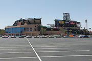 ANAHEIM, CA - MAY 15:  General view of the exterior of the stadium from the parking lot at the Los Angeles Angels of Anaheim game against the Oakland Athletics on Tuesday, May 15, 2012 at Angel Stadium in Anaheim, California. The Angels won the game 4-0. (Photo by Paul Spinelli/MLB Photos via Getty Images)