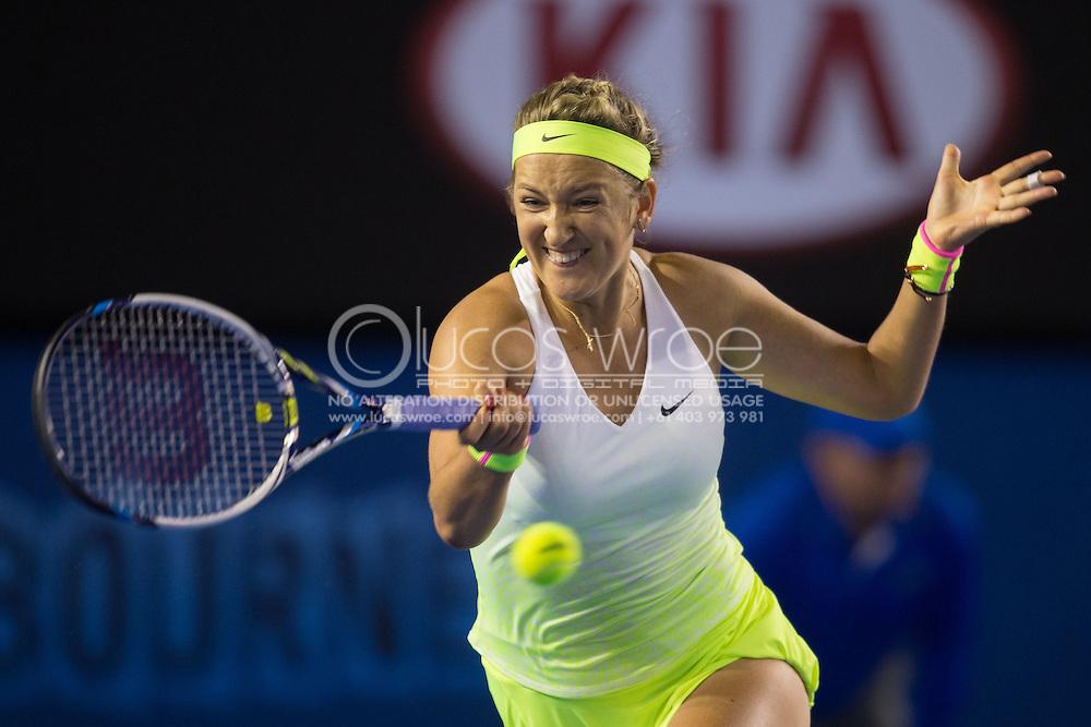 VICTORIA AZARENKA (BLR), January 26, 2015 - TENNIS : Australian Open Championship. Melbourne Park, Melbourne, Victoria, Australia. Credit: Lucas Wroe