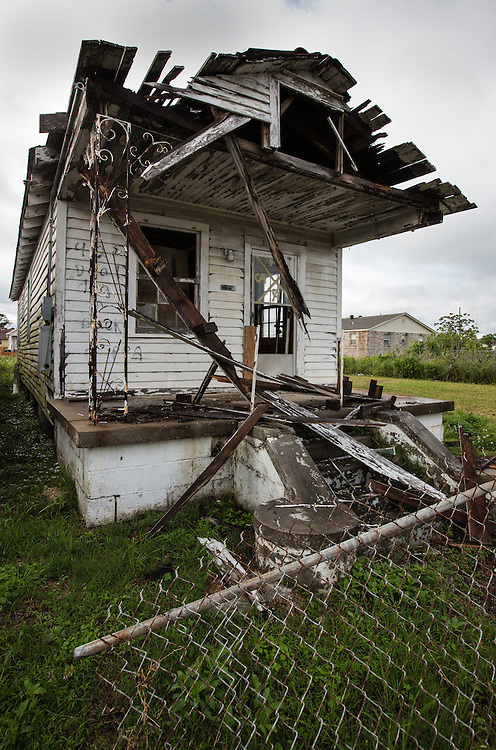 Blighted home in New Orleans almost eight years after Hurricane Katrina in the Lower 9th Ward.