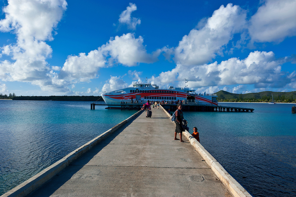 Ferry between Grande Terre and Ile des Pins, New Caledonia, Melanesia, South Pacific