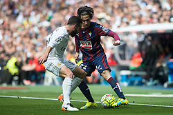 09.04.2016, Estadio Santiago Bernabeu, Madrid, ESP, Primera Division, Real Madrid vs SD Eibar, 32. Runde, im Bild Real Madrid's Daniel Carvajal and Sociedad Deportiva Eibar's Jota Peleteiro // during the Spanish Primera Division 32th round match between Real Madrid and SD Eibar at the Estadio Santiago Bernabeu in Madrid, Spain on 2016/04/09. EXPA Pictures © 2016, PhotoCredit: EXPA/ Alterphotos/ Borja B.Hojas<br /> <br /> *****ATTENTION - OUT of ESP, SUI*****