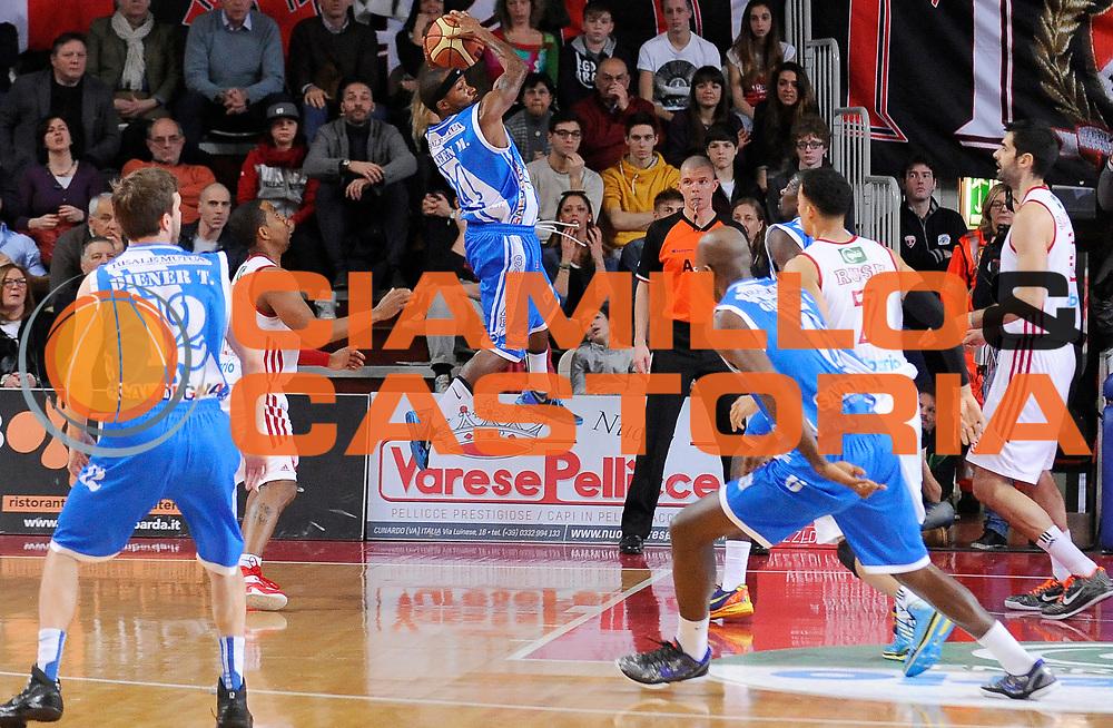 DESCRIZIONE : Varese Campionato Lega A 2013-14 Cimberio Varese Banco di Sardegna Sassari<br /> GIOCATORE : Marques Green<br /> CATEGORIA : Rimbalzo Controcampo<br /> SQUADRA : Banco di Sardegna Sassari<br /> EVENTO : Campionato Lega A 2013-14<br /> GARA : Cimberio Varese Banco di Sardegna Sassari<br /> DATA : 23/02/2014<br /> SPORT : Pallacanestro <br /> AUTORE : Agenzia Ciamillo-Castoria/A.Giberti<br /> Galleria : Campionato Lega A 2013-14  <br /> Fotonotizia : Varese Campionato Lega A 2013-14 Cimberio Varese Banco di Sardegna Sassari<br /> Predefinita :